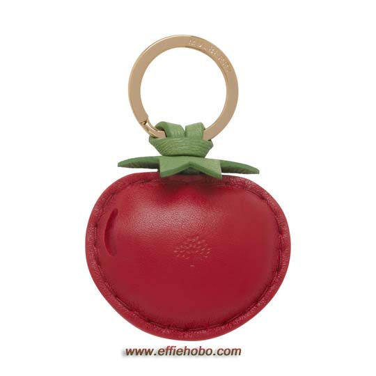 Mulberry Tomato Keyring Red Leather