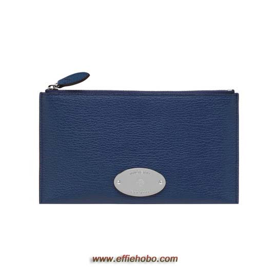 Mulberry East West Pouch Slate Blue Grainy Print
