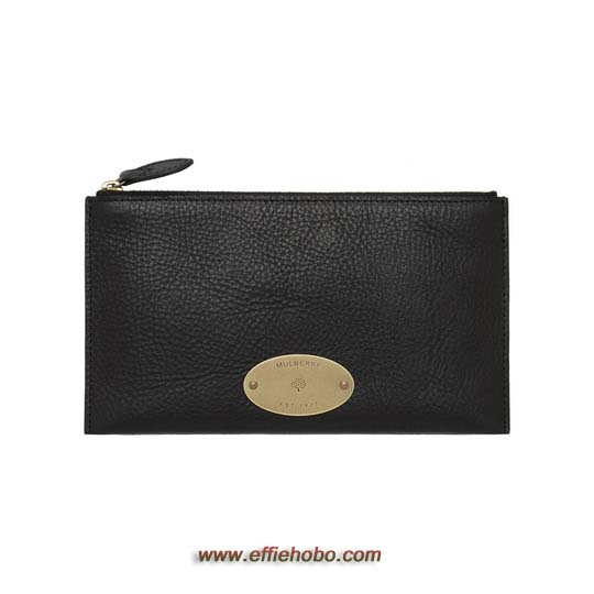 Mulberry East West Pouch Black Natural Leather