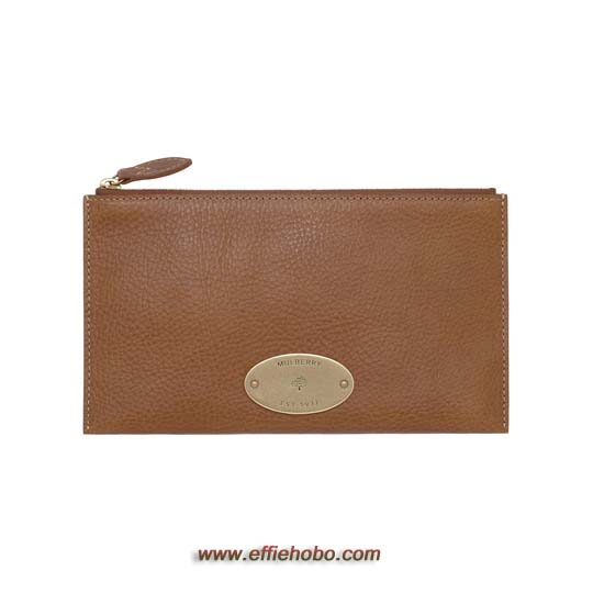 Mulberry East West Pouch Oak Natural Leather