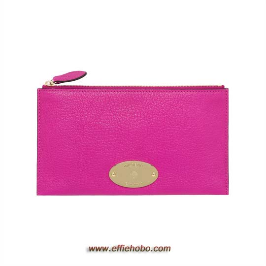 Mulberry East West Pouch Mulberry Pink Glossy Goat