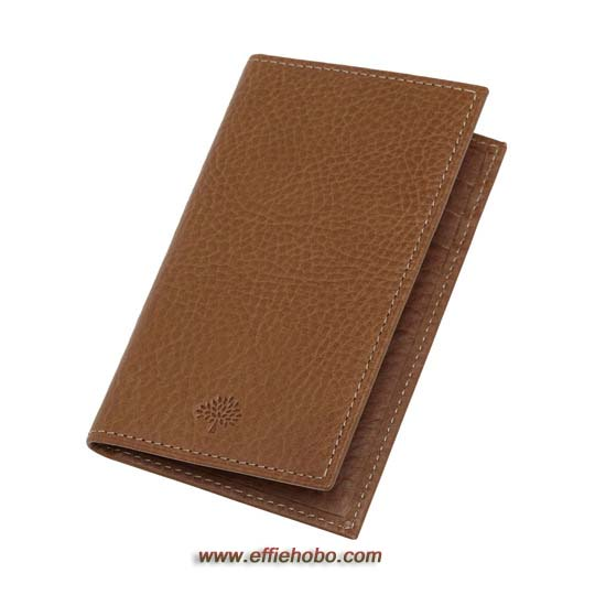 Mulberry Foldable Card Case Oak Natural Leather