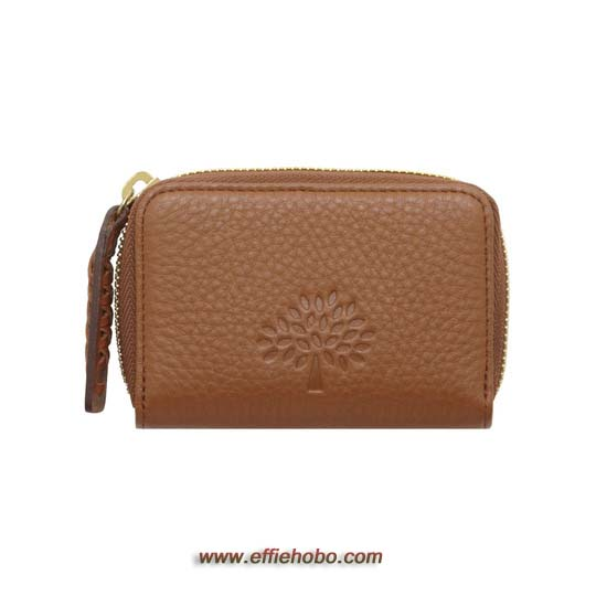 Mulberry Effie Small Zip Around Oak Spongy Pebbled