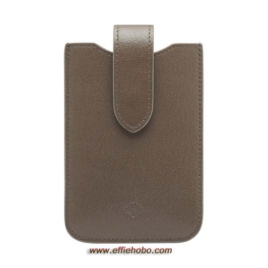 Mulberry Phone Cover with Tab Taupe Shiny Goat