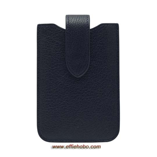 Mulberry Phone Cover with Tab Midnight Blue Shiny Goat