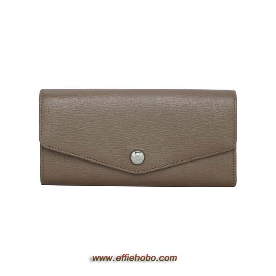 Mulberry Dome Rivet Continental Wallet Taupe Shiny Goat