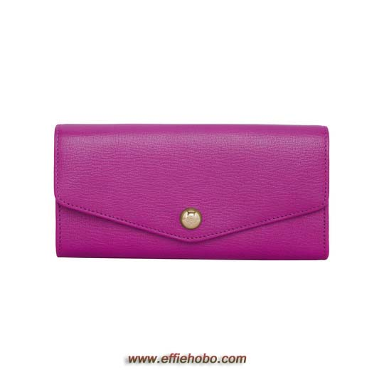 Mulberry Dome Rivet Continental Wallet Mulberry Pink Glossy Goat