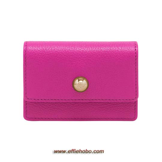 Mulberry Dome Rivet Card Case Mulberry Pink Glossy Goat