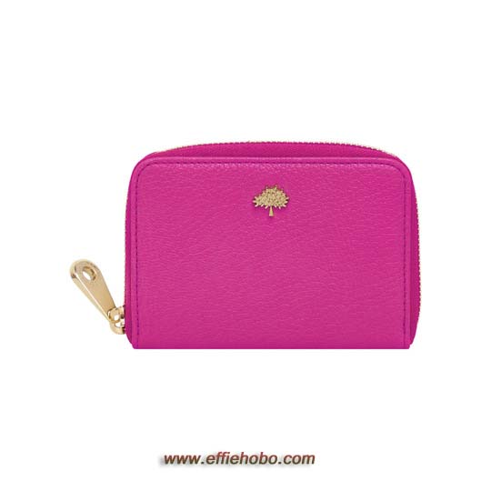 Mulberry Tree Zip Around Purse Mulberry Pink Glossy Goat