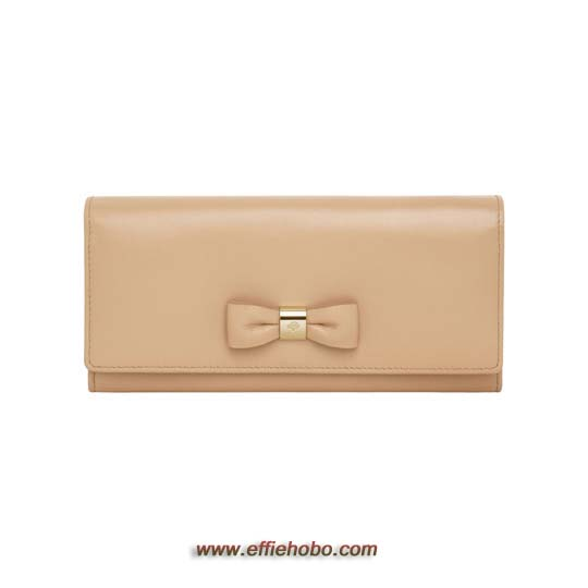 Mulberry Bow Continental Wallet Natural Classic Nappa
