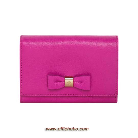 Mulberry Bow French Purse Mulberry Pink Glossy Goat