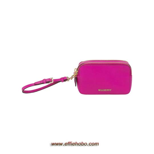 Mulberry Wristlet Pouch Mulberry Pink Glossy Goat