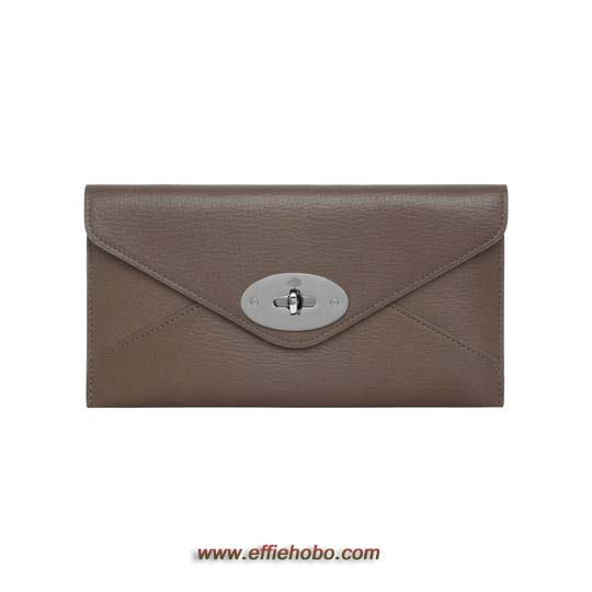 Mulberry Envelope Wallet Taupe Shiny Goat