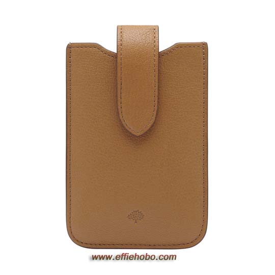Mulberry Phone Cover with Tab Deer Brown Glossy Goat