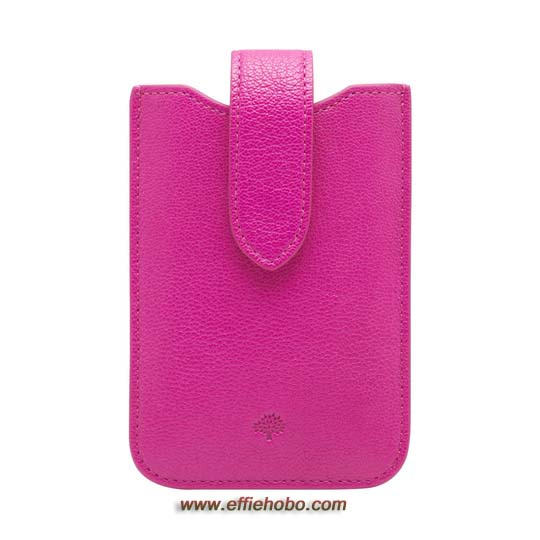 Mulberry Phone Cover with Tab Mulberry Pink Glossy Goat