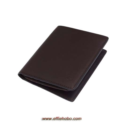 Mulberry Mini Tri Fold Wallet Chocolate Soft Saddle
