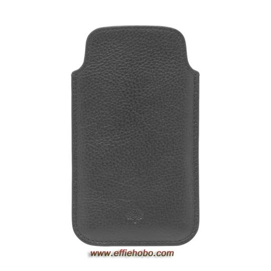 Mulberry iPhone 5 Cover Black Natural Leather