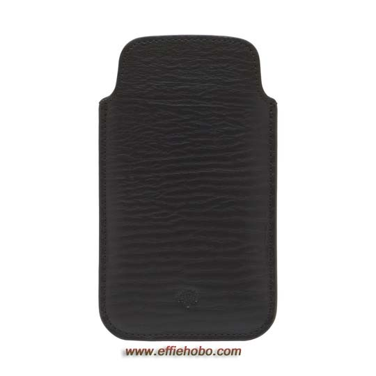 Mulberry iPhone 5 Cover Black Hand Rolled Leather