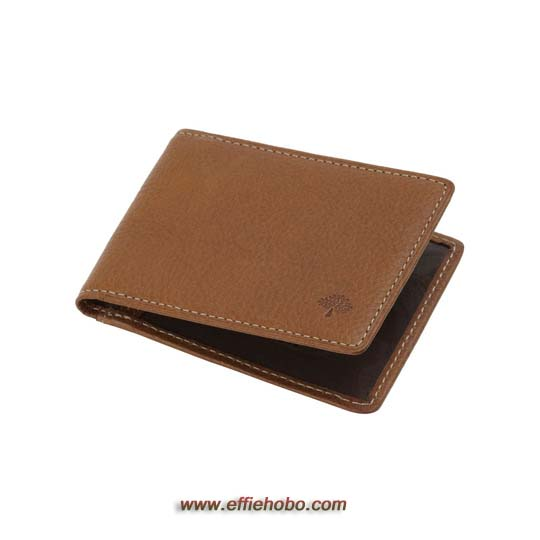 Mulberry Travel Card Holder Oak Natural Leather