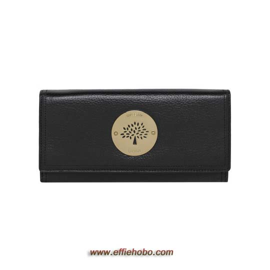 Mulberry Daria Continental Wallet Black Soft Spongy Leather