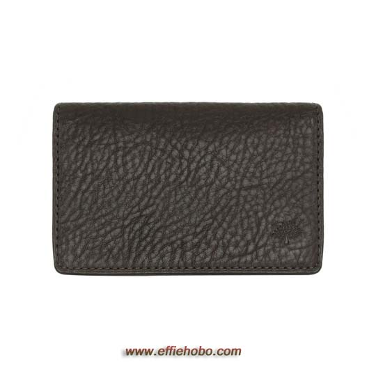 Mulberry Card Case Chocolate Natural Leather