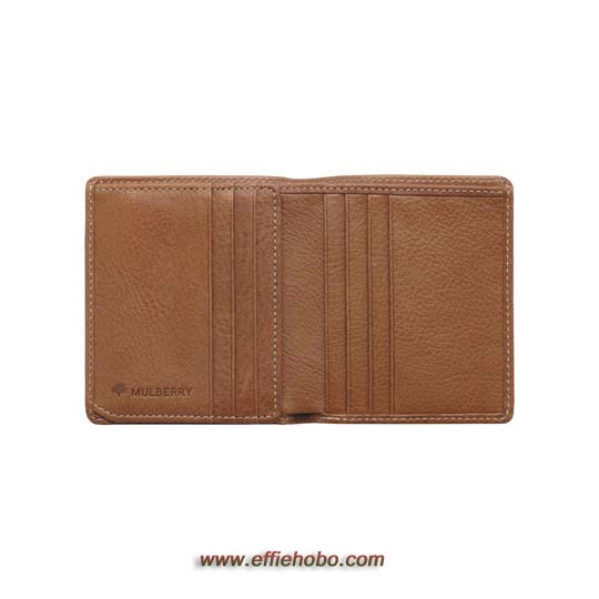 Mulberry Mini Tri Fold Wallet Oak Natural Leather