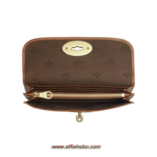 Free Gift for order amount over 250GBP-Mulberry Long Locked Purse Oak