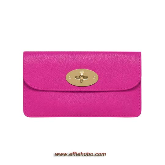 Mulberry Long Locked Purse Mulberry Pink Glossy Goat