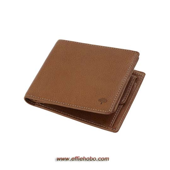 Mulberry 8 Card Coin Wallet Oak Natural Leather