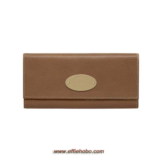 Mulberry Continental Wallet Oak Natural Leather with Brass
