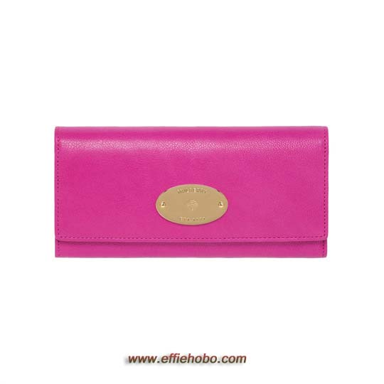 Mulberry Continental Wallet Mulberry Pink Glossy Goat