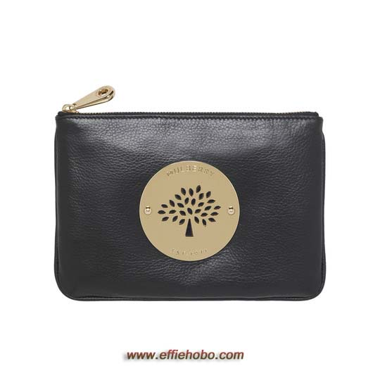 Mulberry Daria Pouch Black Soft Spongy Leather