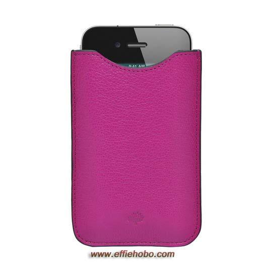 Mulberry iPhone Cover Mulberry Pink Glossy Goat