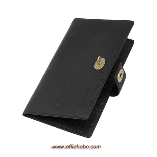 Mulberry Women's Travel Wallet Black Natural Leather