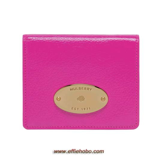 Mulberry ID Purse Mulberry Pink Glossy Goat