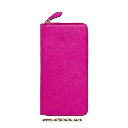 Mulberry Zip Around Travel Wallet Mulberry Pink Glossy Goat