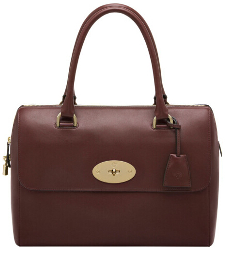 Mulberry Del Rey Bag Oxblood Leather with Soft Gold components