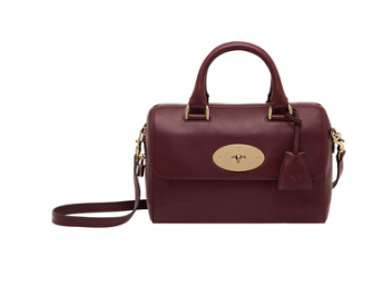 Mulberry Small Del Rey Bag Oxblood Leather with Soft Gold components